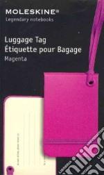 Luggage tag dark pink