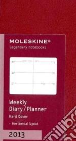 Weekly horizontal planner XS. Dark red cover articolo per la scrittura