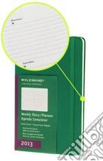 Agenda 2013 Large Verde- Settimanale Orizzontale articolo per la scrittura
