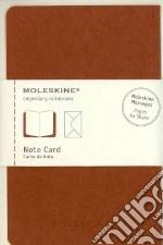 Note cards with envelope. P terracotta articolo per la scrittura di Moleskine