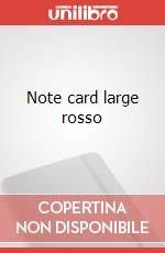 Note cards with envelope. L red articolo per la scrittura