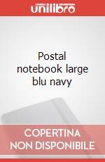 Postal notebook. L navy blue articolo per la scrittura