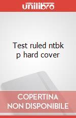 Test ruled ntbk p hard cover articolo per la scrittura