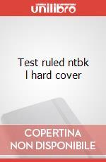 Test ruled ntbk l hard cover articolo per la scrittura