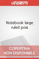 Notebook large ruled pois articolo per la scrittura