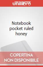 Notebook pocket ruled honey articolo per la scrittura