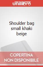 Shoulder bag small khaki beige articolo per la scrittura
