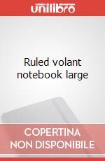 Ruled volant notebook large articolo per la scrittura