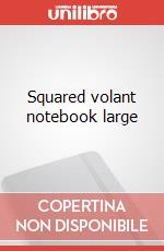 Squared volant notebook large articolo per la scrittura
