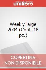 Weekly large 2004 (Conf. 18 pz.) articolo per la scrittura di Moleskine