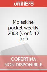Moleskine pocket weekly 2003 (Conf. 12 pz.) articolo per la scrittura di Moleskine