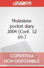 Moleskine pocket diary 2004 (Conf. 12 pz.) articolo per la scrittura di Moleskine