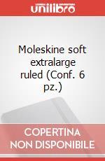 Moleskine soft extralarge ruled (Conf. 6 pz.) articolo per la scrittura di Moleskine