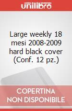 Large weekly 18 mesi 2008-2009 hard black cover (Conf. 12 pz.) articolo per la scrittura di Moleskine