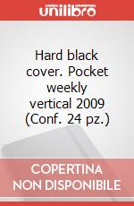Hard black cover. Pocket weekly vertical 2009 (Conf. 24 pz.) articolo per la scrittura di Moleskine
