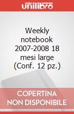Weekly notebook 2007-2008 18 mesi large (Conf. 12 pz.) articolo per la scrittura di Moleskine
