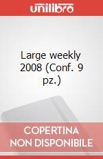 Large weekly 2008 (Conf. 9 pz.) articolo per la scrittura di Moleskine
