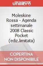 Moleskine Rossa - Agenda settimanale 2008 Classic Pocket (ediz.limitata) articolo per la scrittura