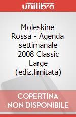Moleskine Rossa - Agenda settimanale 2008 Classic Large (ediz.limitata) articolo per la scrittura