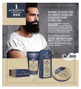Scopri la nuova linea Afrodita dedicata alla cura di barba e baffi
