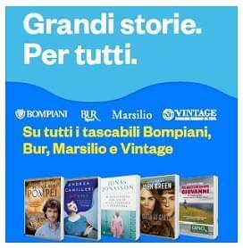 I migliori Tascabili Bompiani, BUR, Marsilio e Vintage in promozione!