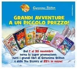 Tutti i Libri di Geronimo STILTON & TEA Sisters in promozione!