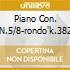 PIANO CON. N.5/8-RONDO'K.382