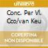 CONC. PER VL. CCO/VAN KEU