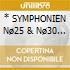 * SYMPHONIEN N� & N�