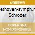 BEETHOVEN-SYMPH.N.1 SCHRODER