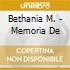 Bethania M. - Memoria De