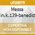 MESSA DO.MIN.K.139-BENEDICTUS. NEUMA