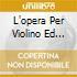 L'OPERA PER VIOLINO ED ORCHESTRA HOE