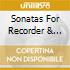 SONATAS FOR RECORDER & HARPSC: