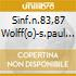 SINF.N.83,87 WOLFF(O)-S.PAUL CHAMBER