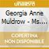 Georgia Anne Muldrow - Ms. One