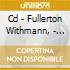CD - FULLERTON WITHMANN, - DARTMOUTH STREET UNDERPASS