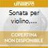 Sonata per violino, sonata per viola