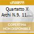 QUARTETTO X ARCHI N.9, 11, 12, 13, 14, B