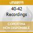 40-42 RECORDINGS