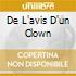 DE L'AVIS D'UN CLOWN