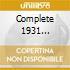 COMPLETE 1931 RECORDINGS