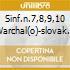 SINF.N.7,8,9,10 WARCHAL(O)-SLOVAK CH