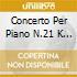CONCERTO PER PIANO N.21 K 467