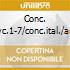 CONC. CLVC.1-7/CONC.ITAL./ARTE