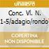 CONC. VL. N. 1-5/ADAGIO/RONDO'