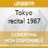 Tokyo recital 1987