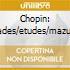 Chopin: ballades/etudes/mazurkas