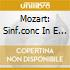 MOZART: SINF.CONC IN E FLAT MAJOR