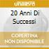 20 ANNI DI SUCCESSI
